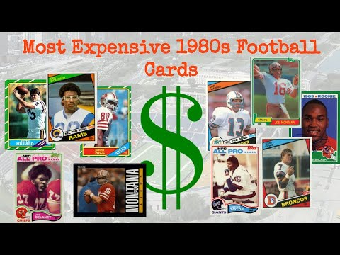 Most Expensive 1980s Football Cards Sold On EBay - January 2020
