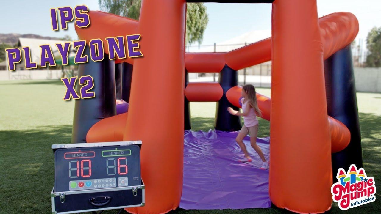 ips playzone x2 interactive sports games magic jump inc youtube