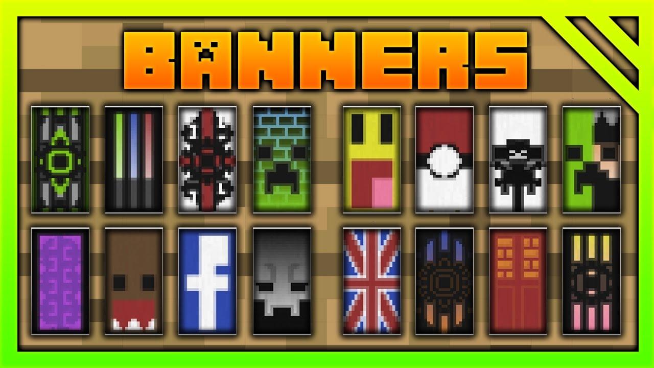MineCraft PERSONALIZAR EstandartesBanderas YouTube