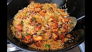 കുട്ടികൾക്കും ഉണ്ടാക്കാം റസ്റ്റോറന്റിൽ കിട്ടുന്നചിക്കൻ ഫ്രൈഡ് റൈസ് Restaurant Chicken Fried Rice