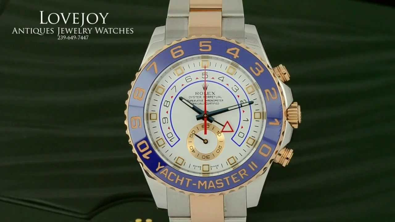 rolex yachtmaster ii steel and 18kt rose gold mens watch