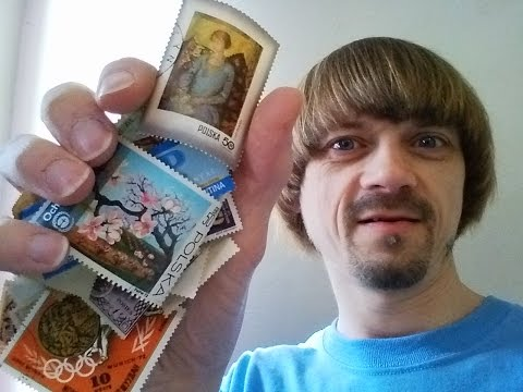 My Stamp Collection -(Weird Paul) 80s Stamp Collecting Stamp Collector Vlog 2016