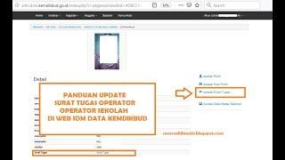 Panduan Cara Update Surat Tugas Operator Sekolah Di Web Sdm