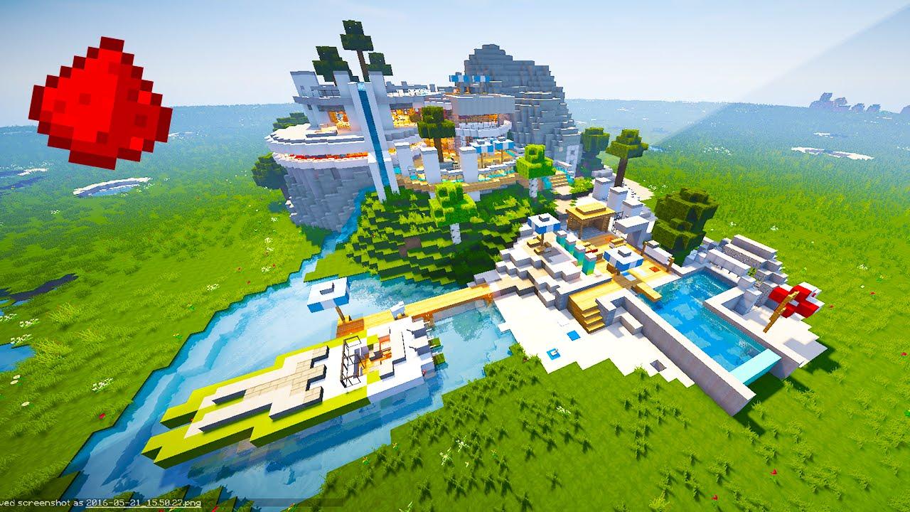 Minecraft maps redstone modern house youtube