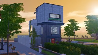 Tiny Brutalist The Sims 4 Speed Build Youtube
