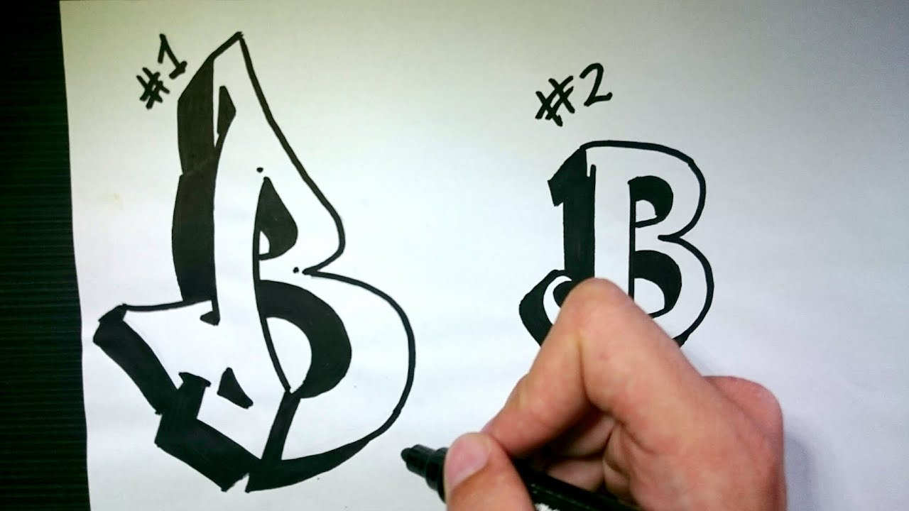 How To Draw Graffiti Letter B On Paper