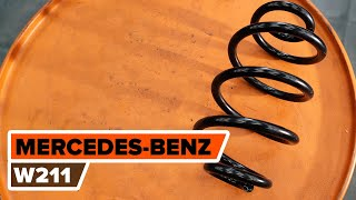 How to change rear springs on MERCEDES-BENZ W211 E-Class [TUTORIAL AUTODOC]