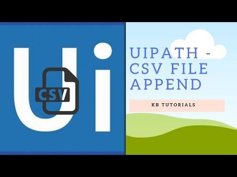 UiPath Tutorials - Append CSV