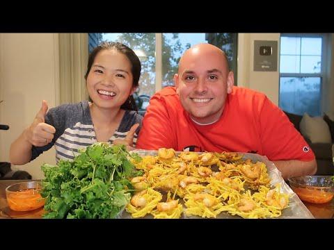 Vlog 420  Bánh Tôm Tây Hồ Cuốn Xà Lách. Đặc Sản Hà Nội. Ngon Hơn Cả Sự Mong Đợi