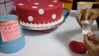Cómo decorar torta de Minnie mouse?Nivel principiantes