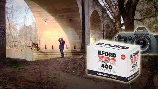Photography Shoot - Ilford XP2 Park and Railway Bridge