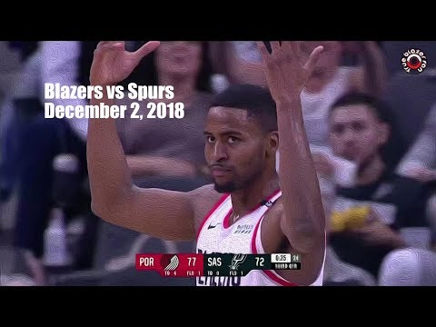 Portland Trail Blazers vs San Antonio Spurs - Full Game Highlights - December 2, 2018