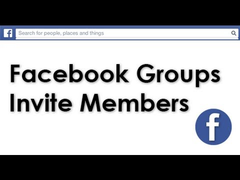 How to send a Facebook Group invite YouTube