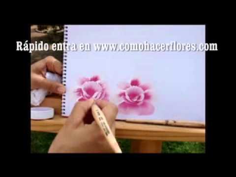 Cursos clases pintura de como pintar flores para u as for Pinturas para pintar