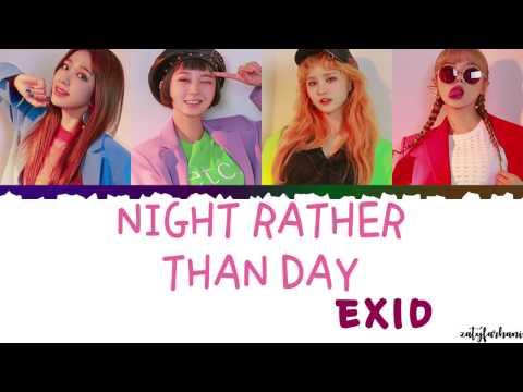 EXID 이엑스아이디 - Night Rather Than Day 낮보다는 밤  Color CodedHanRomEng