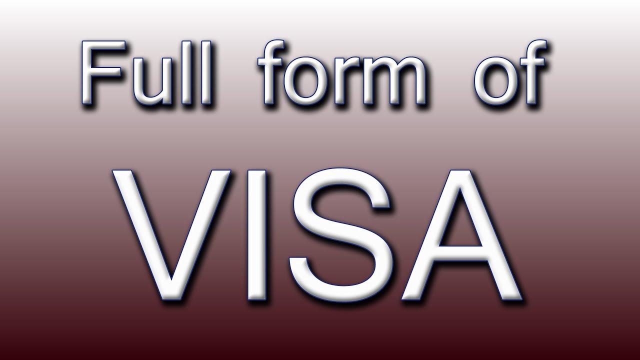 Full form of VISA - YouTube