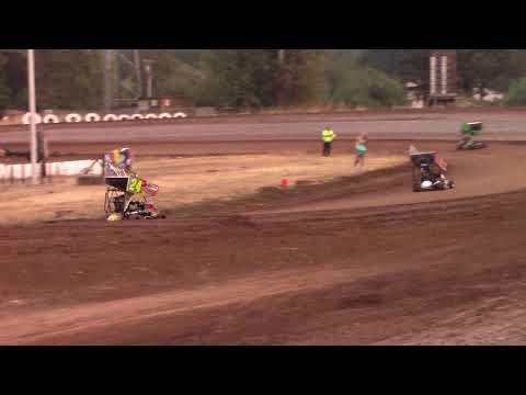 Cottage Grove Speedway, OR - 125cc Cage-Kart Heat #2 - Sept. 2, 2017