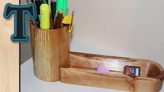 Make A Wooden Desk Organizer