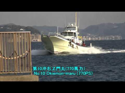【HD】高速遊漁船 おきえもん丸 Powerful Fishing Boat