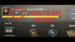 How to get PACIFIST title in हिंदी ||PUBG MOBILE||