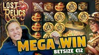MEGA WIN! Lost Relics BIG WIN - 12 euro bet - Huge win from Casino LIVE stream