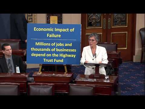 Senator Boxer speaks on the need to find a long-term fix for the Highway Trust Fund