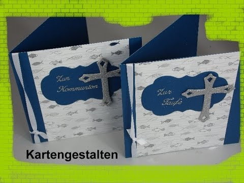 Karte zur kommunion taufe konfirmation basteln cardmaking youtube - Bastelideen zur taufe ...