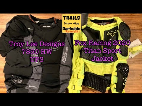 Fox Racing Titan Sport Jacket 2020 And Troy Lee Designs 7850 HW UPS Unbox And Reviews