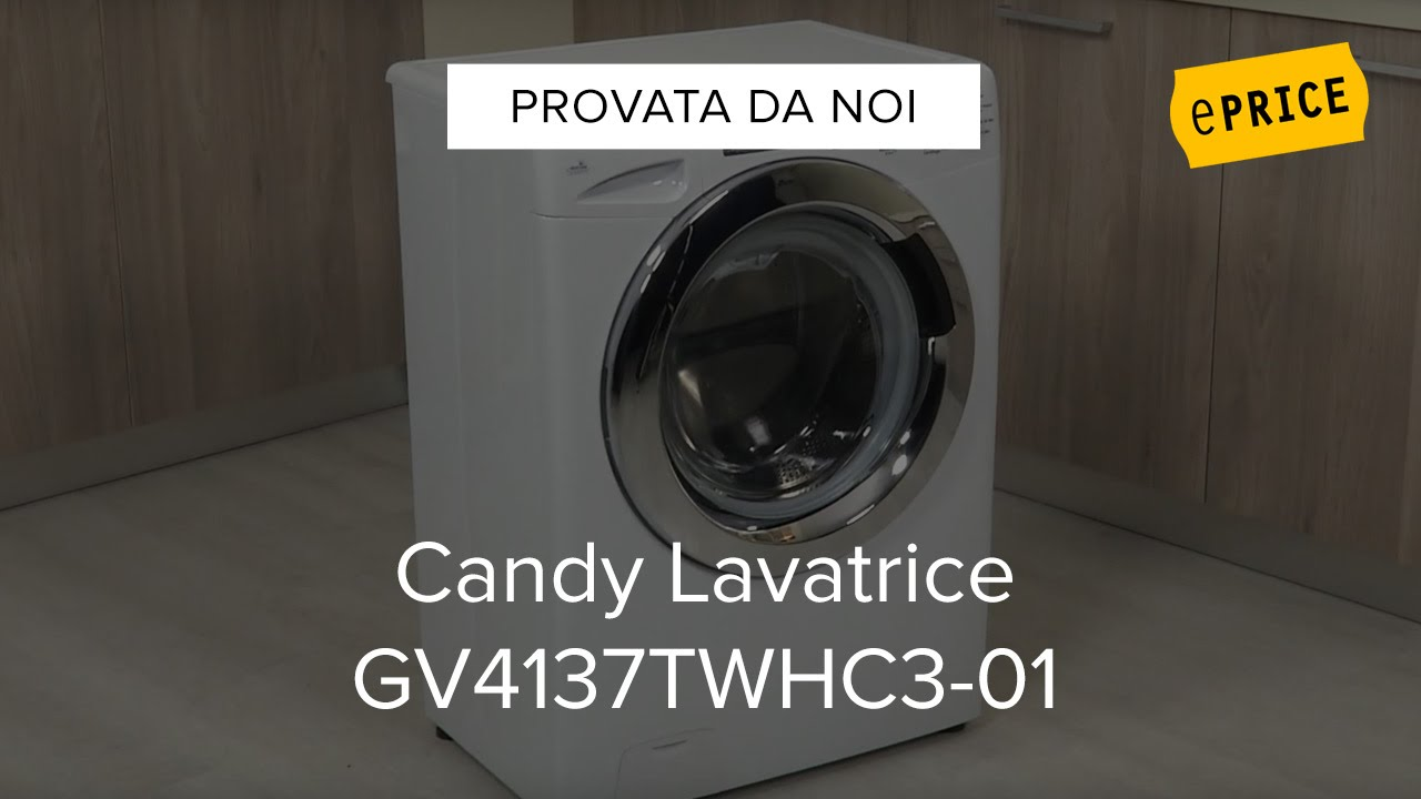 Video Recensione Lavatrice Candy GV4137TWHC3 01   YouTube