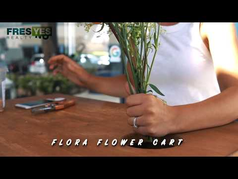 Flora Flower Cart Pop-Up at FresYes Realty