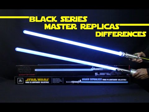 Differences Master Replicas and Black Series Force Fx Anakin and Luke Skywalker Star Wars