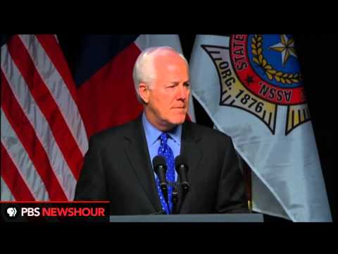 Senator John Cornyn Speaks at the Memorial Service for West Texas Firefighters