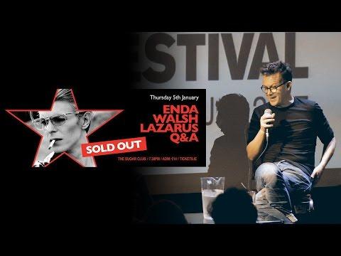 An Evening with Enda Walsh Q&A - The Sugar Club Dublin - Dublin Bowie Festival 2017