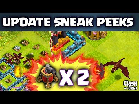 Clash of Clans UPDATE! ♦ Sneak Peeks! ♦ Level 5 Dragon ♦ Barracks Screen ♦ 2nd Air Sweeper!