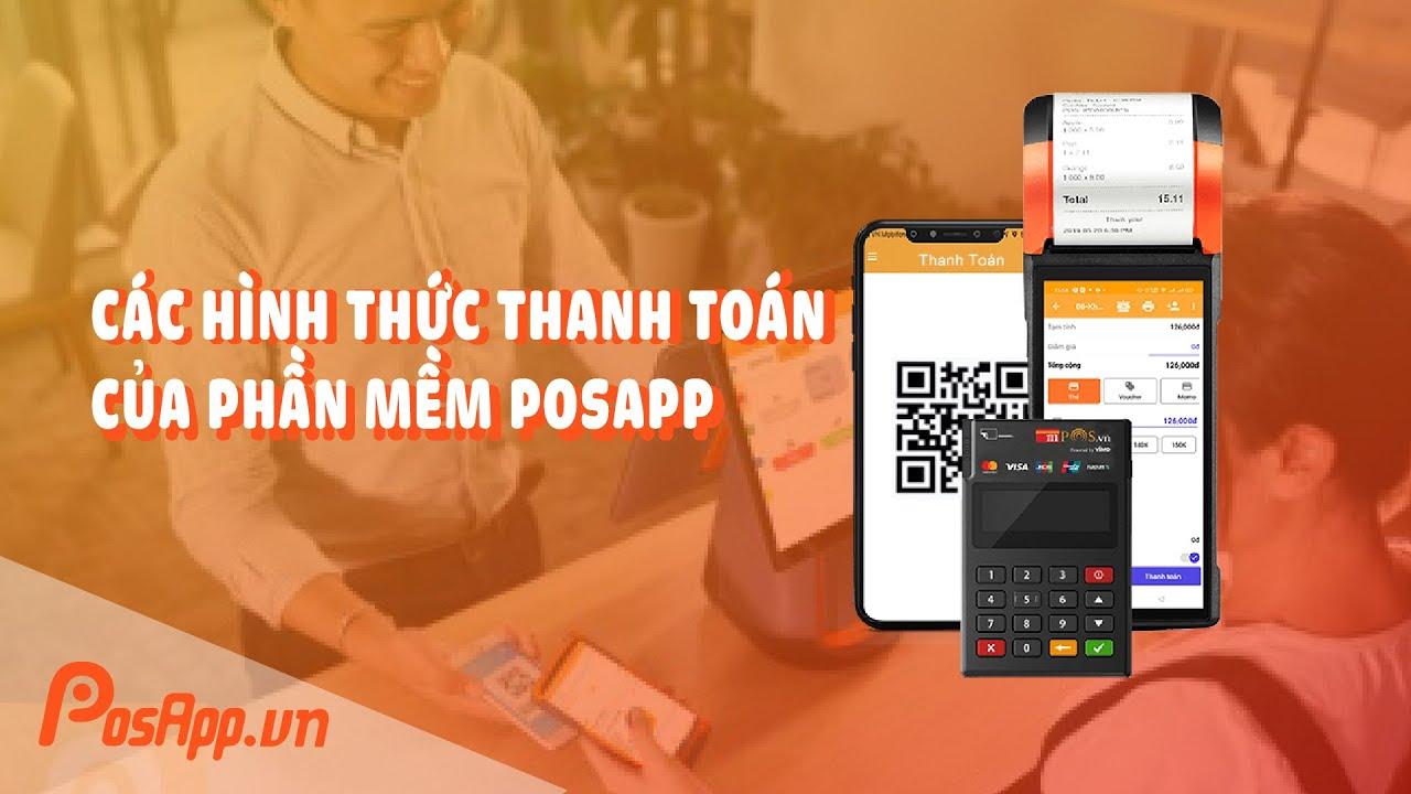 Máy POS quẹt thẻ không dây PosApp, thanh toán không tiền mặt dễ dàng