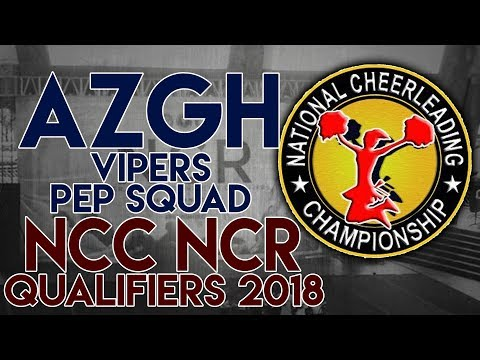 NCC NCR Qualifiers 2018 - A.Zarate General Hospital College SENIOR COED CHEER