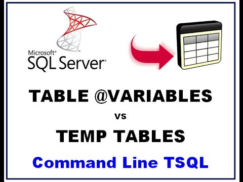 Sql server table variables temp tables vs table for Table variable in sql server