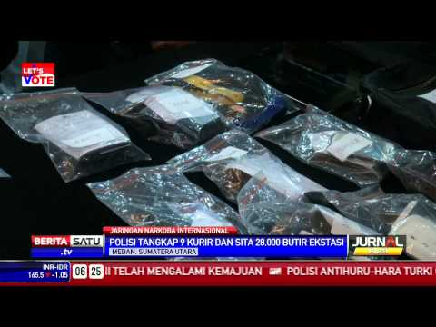 Polisi Tangkap 9 Kurir dan Sita 28 ribu Butir Ekstasi Mp3