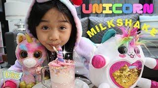 Make a homemade milkshake drink that's magical this weekend! we rea...