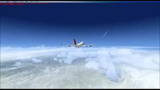 デンバーから離陸して雲を突き抜けるまでの試しビデオ