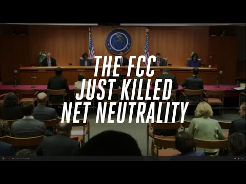 The FCC just killed net neutrality