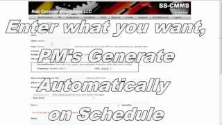 ss cmms demonstration video