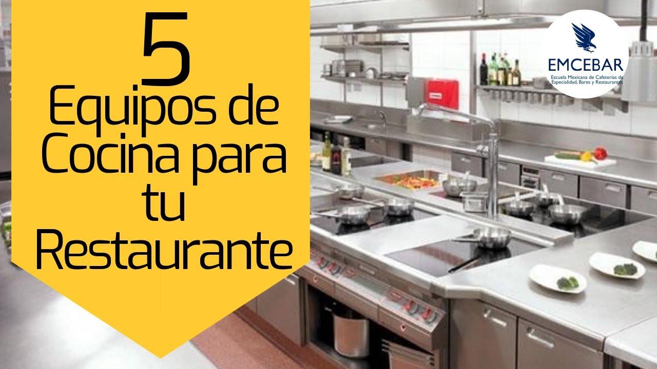 5 Equipos de Cocina para tu Restaurante