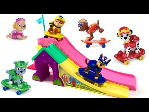 Thumbnail: Learn Colors with Paw Patrol Skateboards Pups Skating Skateboarding Ramp | Fizzy Fun Toys
