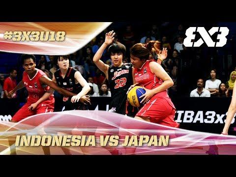 Indonesia drop opener vs reigning champs Japan - Full Game - Asia Cup U18 - FIBA 3x3