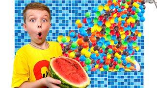 Andi Story for kids about harmful sweets and candies Андрей история про вредные сладости для детей