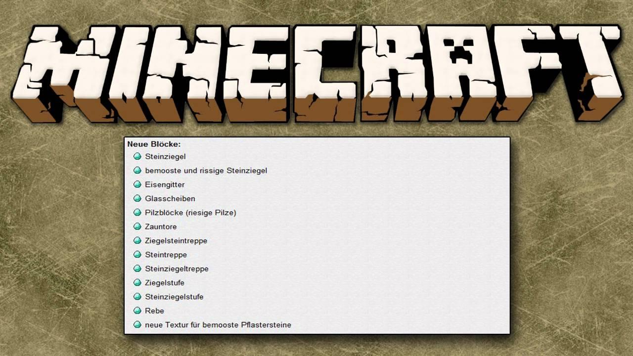 Minecraft 1 8 Alle Neuerungen Youtube