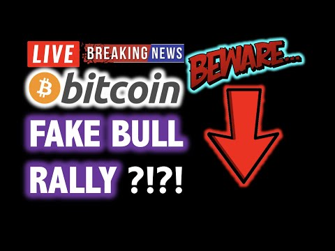 BITCOIN FAKE BULL RALLY?! ⚠️ BEWARE $7K ⚠️ 💥 LIVE Crypto Analysis TA & BTC Cryptocurrency Price News