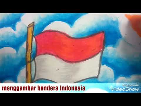 temacara menggambar dan mewarnai bendera indonesia dengan oil pastel mulyadi art class youtube mewarnai bendera indonesia