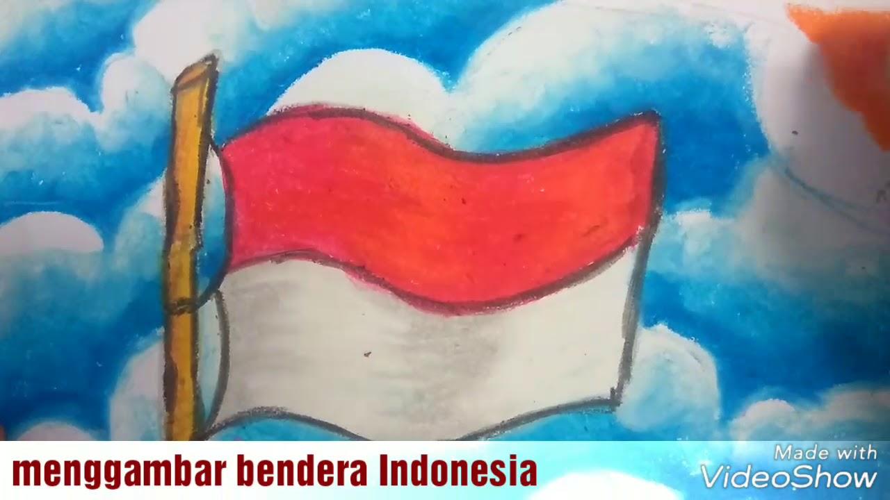 TemaCara Menggambar Dan Mewarnai Bendera Indonesia Dengan Oil Pastel